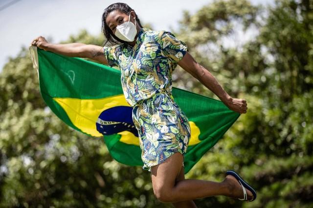 Ketleyn Quadros será porta-bandeira na cerimônia de abertura de Tóquio 2020. Foto: Gaspar Nóbrega/COB