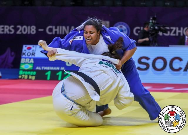 Maria Suelen Altheman, atual nº 2 do mundo, foi bronze no Masters de Guangzhow, em 2018. Foto: Gabriela Sabau/IJF