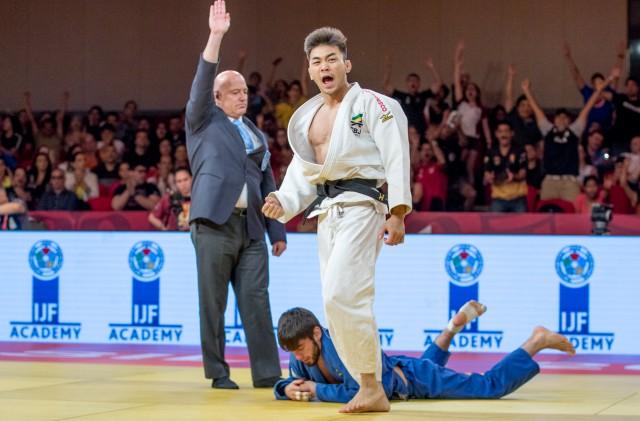 Allan Kuwabara (60kg) será um dos representantes do Brasil em Sófia, na Bulgária. Foto: Rafal Burza / CBJ