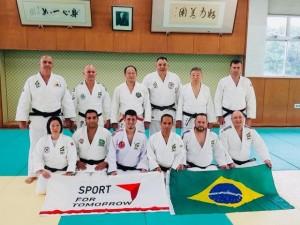 Professores de judô selecionados para intercâmbio no Japão, do programa Sport For Tomorrow, iniciam atividades em Tsukuba