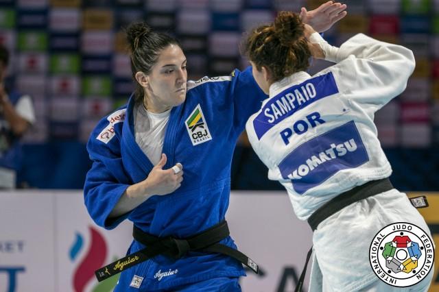 Mayra estreia em 2020 buscando defesa do título do Grand Slam de Düsseldorf. Foto: Gabriela Sabau/IJF