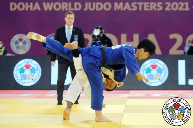 Cargnin tenta um ataque contra AN no World Masters. Foto: Emmanueli Di Feliciantoni/IJF Media Team