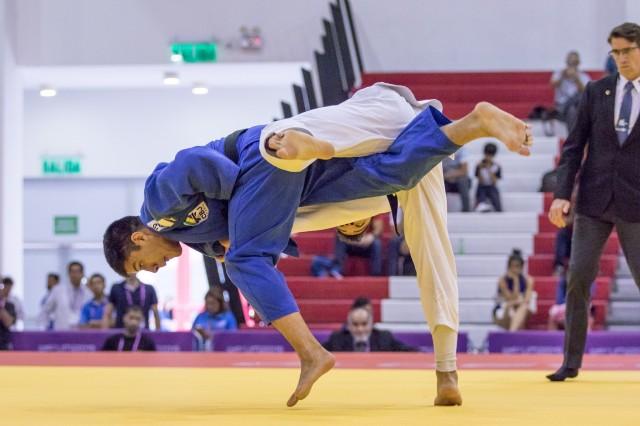 Eduardo Yudy (81kg), bronze no Pan de Lima, em 2019. Foto: Rafal Burza/CBJ