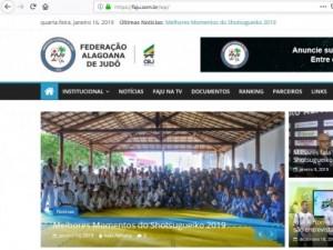Federação Alagoana de Judô lança novo site