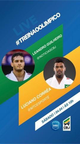 O #TreinãoOlimpico2 colocará frente a frente Luciano Corrêa e Leandro Guilheiro, ao vivo, neste sábado. Foto: Divulgação/CBJ