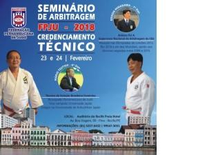 Federação Pernambucana de Judô realizará Credenciamento Técnico e Seminário de Arbitragem com Edison Minakawa e Mario Tsutsui
