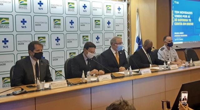 Coletiva de imprensa no Ministério da Saúde. Foto: Cristian Dawes/COB