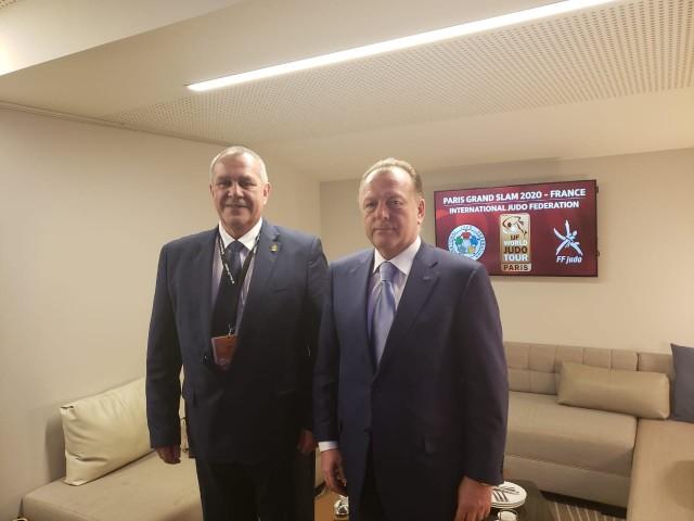 Presidente da CBJ e o presidente da FIJ se reuniram para alinhar a próxima edição do Grand Slam de Brasília