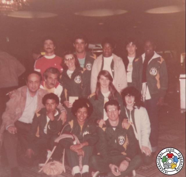 Equipe feminina do Brasil no Mundial de Judô Nova Iorque 1980.