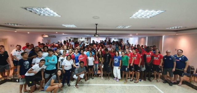 CBJ e COB realizaram palestra de prevenção contra o doping para os atletas das categorias de base presentes no Treinamento de Campo Sub-21, em Pindamonhangaba. Foto: Divulgação/COB