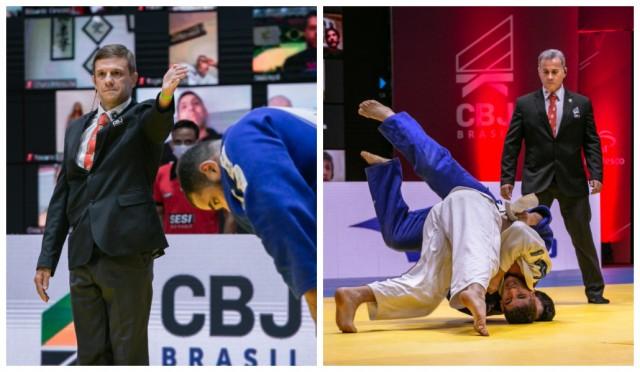 Mariano e Vieira serão os árbitros brasileiros em Tóquio 2020. Foto: Davi Victor/Navve/CBJ