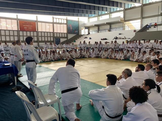 Casa cheia em Simões Filho-BA para o Workshop Judô Nas Escolas. Foto: Divulgação/CBJ