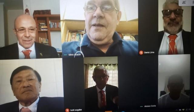 Inseridos na nova realidade, membros do Conselho Nacional de Graduação se reuniram por videoconferência. Foto: Reprodução