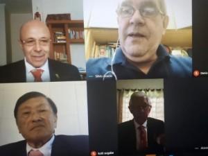 Presidente Silvio Acácio reúne-se com Federações, Conselhos, Gestores e Coordenações Nacionais em nova rotina virtual durante pandemia