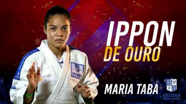 Maria Taba (Minas Tênis Clube/57kg) foi um dos destaques da competição e arrematou os prêmios de Melhor Atleta feminina e Ippon de Ouro