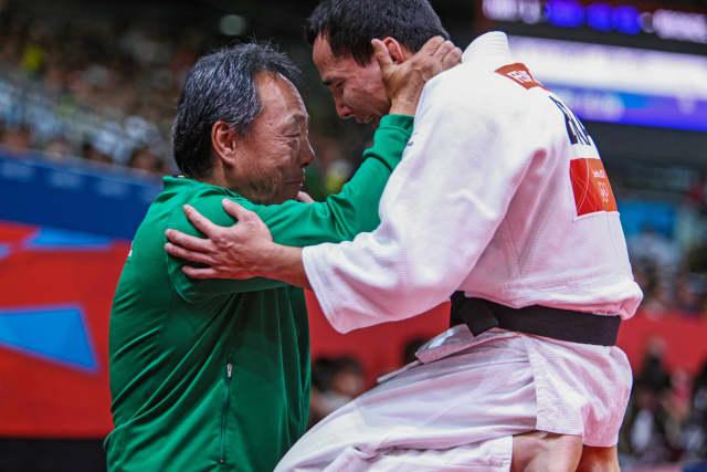 Felipe Kitada e Luiz Shinohara em Londres 2012. Foto: Gabriela Sabau/IJF