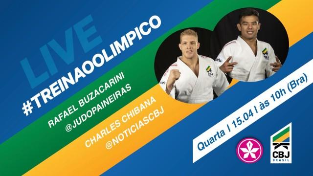 A quinta edição do Treinão Olímpico contará com a presença de Rafael Buzacarini (100kg) e Charles Chibana (73kg). Foto: Divulgação/CBJ
