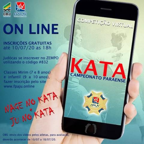 A primeira edição virtual do Campeonato Paraense de Kata irá fornecer pontos para os candidatos a exame de graduação. Foto: Divulgação/FPAJU