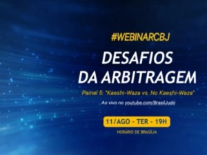 Painel de encerramento do Webinar CBJ – Desafios da Arbitragem terá como tema Kaeshi-Waza vs No Kaeshi-Waza, nesta terça, 11, no Youtube da CBJ